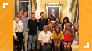 Longhorn legend Sam Ehlinger dines with family, friends at Governor's Mansion