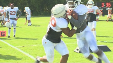 Longhorns enter full-contact, full-pads stage of fall camp