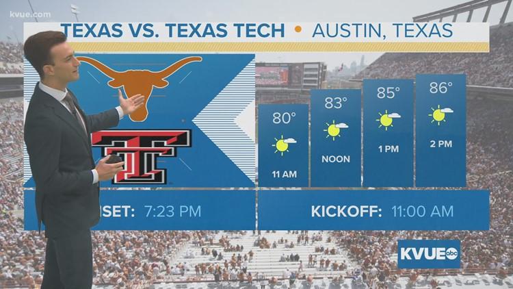 Gameday Forecast: Texas vs. Texas Tech