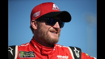 Dale Jr. helps driver stuck in the snow, then hits a tree
