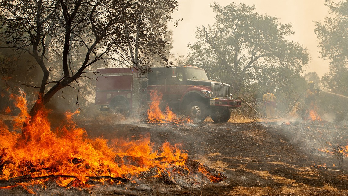 North part of Mendocino Complex of Fires was very active Wednesday
