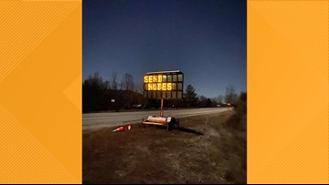 "Digital roadwork sign in Kentucky hacked to say: ""SEND NUDES"""