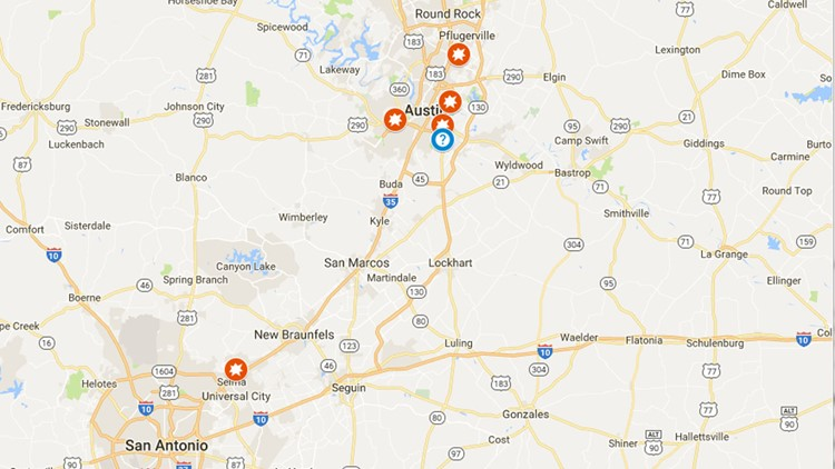 Interactive Map: Texas explosions | kvue.com