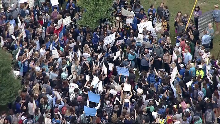 Denton Guyer students walk out in protest after report of on-campus sexual assault