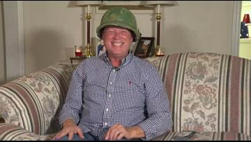 'It still fits!' | Veteran gets back long lost army helmet for Christmas