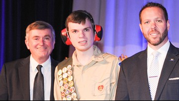 Man with autism earns Boy Scout's highest rank