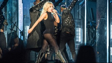 Lady Gaga falls off stage during Las Vegas show, assures fans she's OK