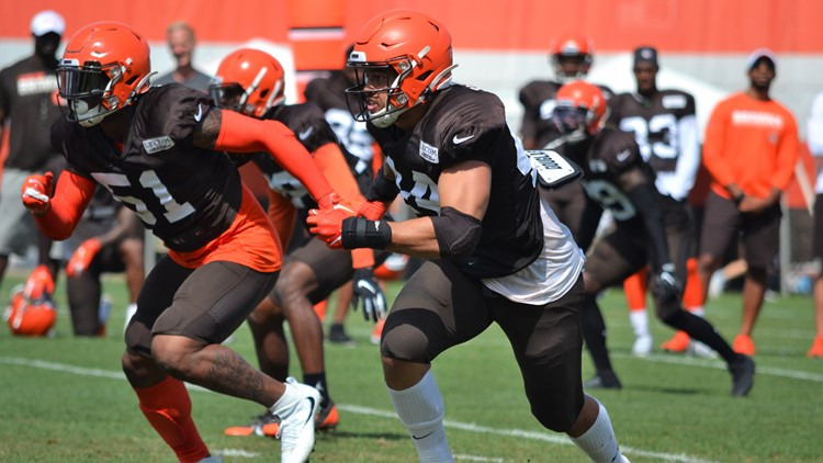 Sione Takitaki Cleveland Browns Training Camp August 1, 2019