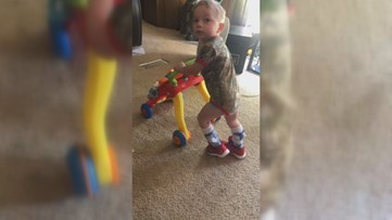 'A true miracle from God': Georgia toddler with cerebral palsy takes his first steps