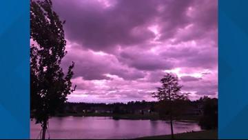 Florida sky turns purple after Hurricane Dorian