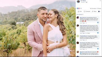 Tim Tebow is officially a married man!