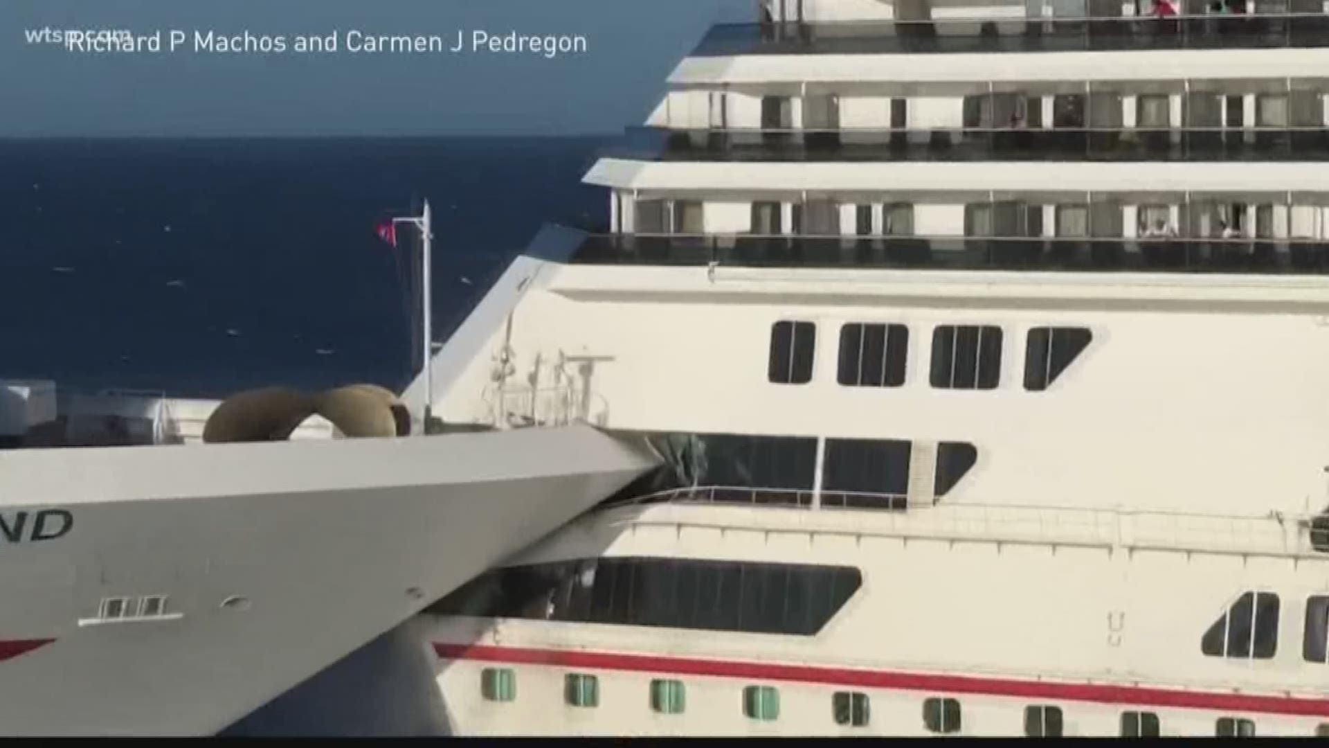 Tampa-based Carnival Cruise Ship Crashes Into Another In