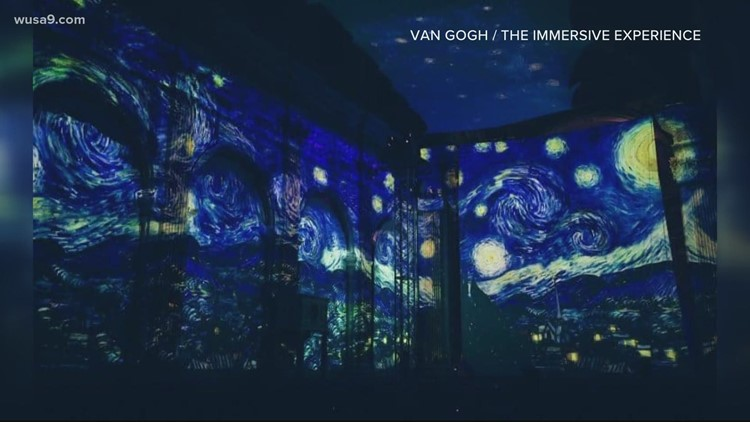 Completely immersive Van Gogh art experience debuts under Austin's starry skies