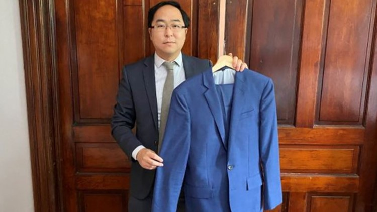 Congressman Andy Kim donates suit he wore on Jan. 6 to Smithsonian