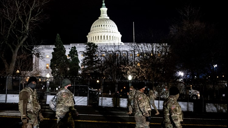 National Guard at Capitol hospitalized after eating substandard food. Metal shavings, feathers found in meals