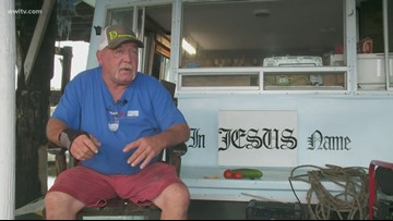 'I got my boat. That's all I need': Man rides out Barry in his houseboat