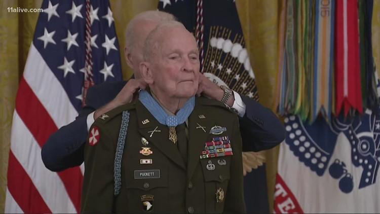 Korean War vet from Georgia receives Medal of Honor from Biden