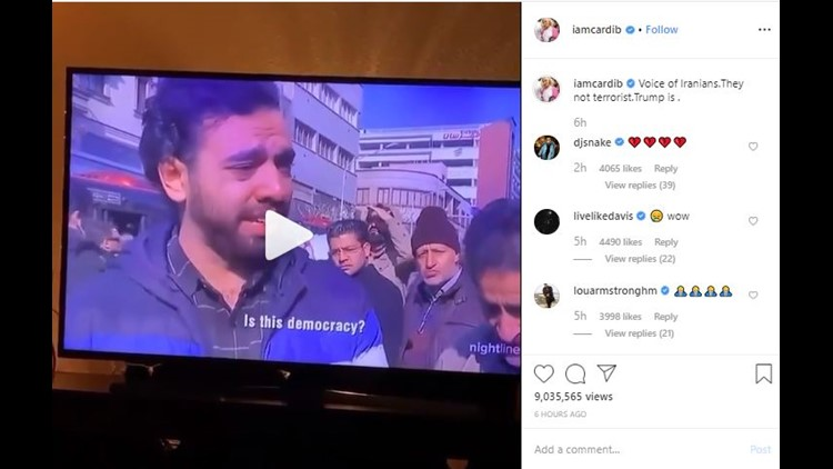 Cardi B calls President Trump a terrorist on Instagram